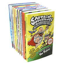 Load image into Gallery viewer, Captain Underpants 10 Books Children Collection Paperback Set By Dav Pilkey - Bangzo Books Wholesale