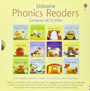 Usborne Phonics Readers 12 Books Collection Box Set
