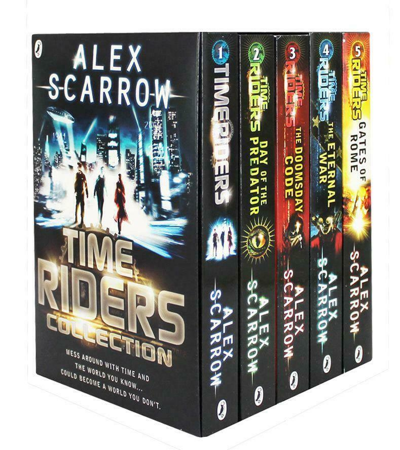 Time Riders 5 Books Young Adult Collection Paperback Gift Pack By Alex Scarrow