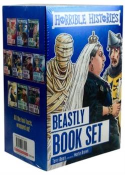Horrible Histories Collection 10 Beastly Books Children Pack Paperback Set