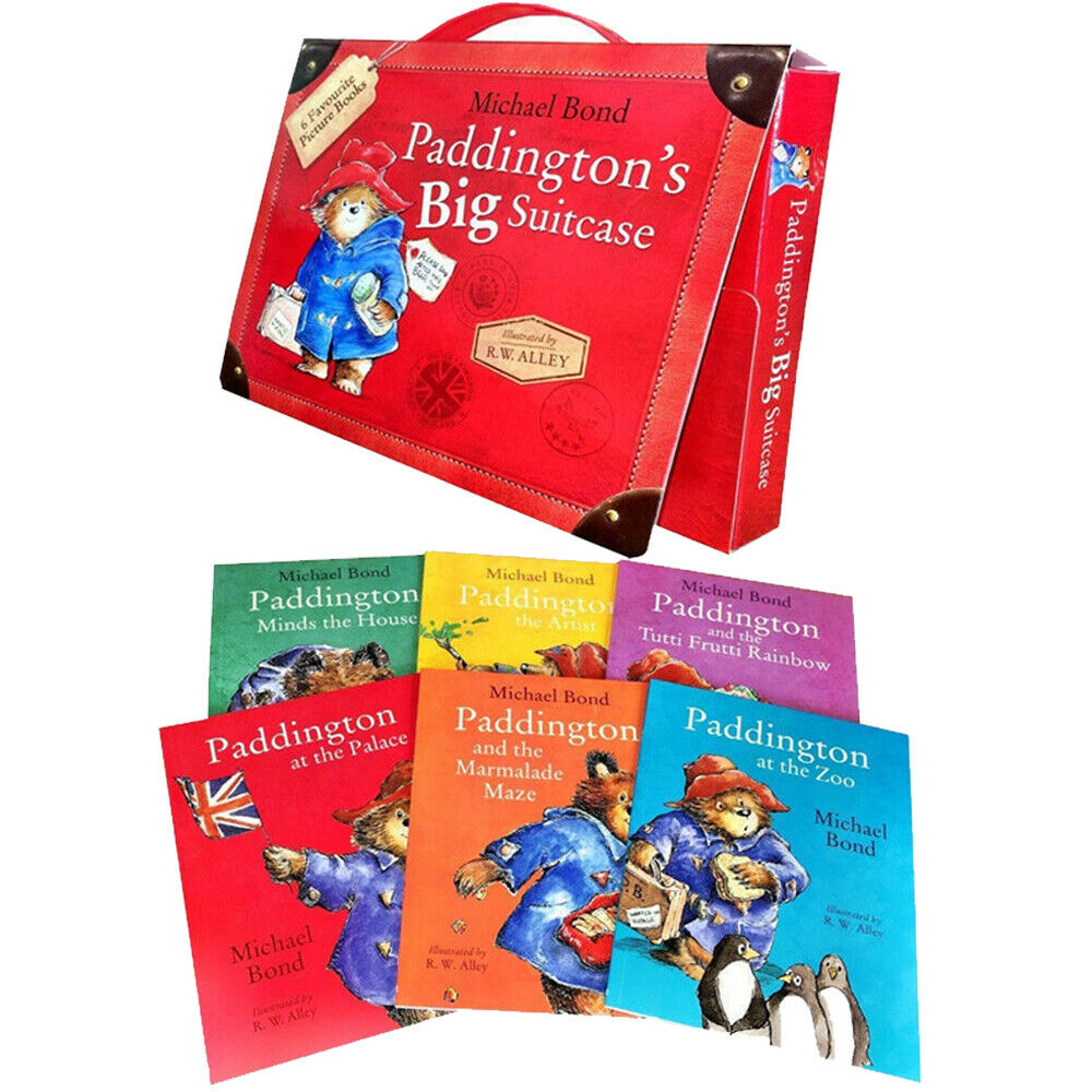 Paddingtons Big Suitcase 6 Books Children Collection Paperback BY- Michael Bond