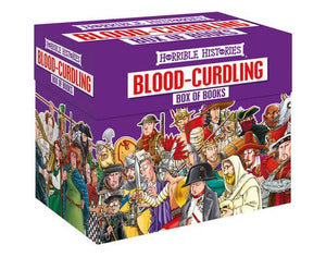 Horrible Histories Blood Curdling 20 Books Young Adult Collection Box Set  By Terry Deary