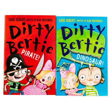 Dirty Bertie 2 Books Children Collection Paperback Set By David Roberts, Alan McDonald