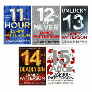 Women Murderclub Series 5 Books (11-15) Paperback Collection By James Patterson