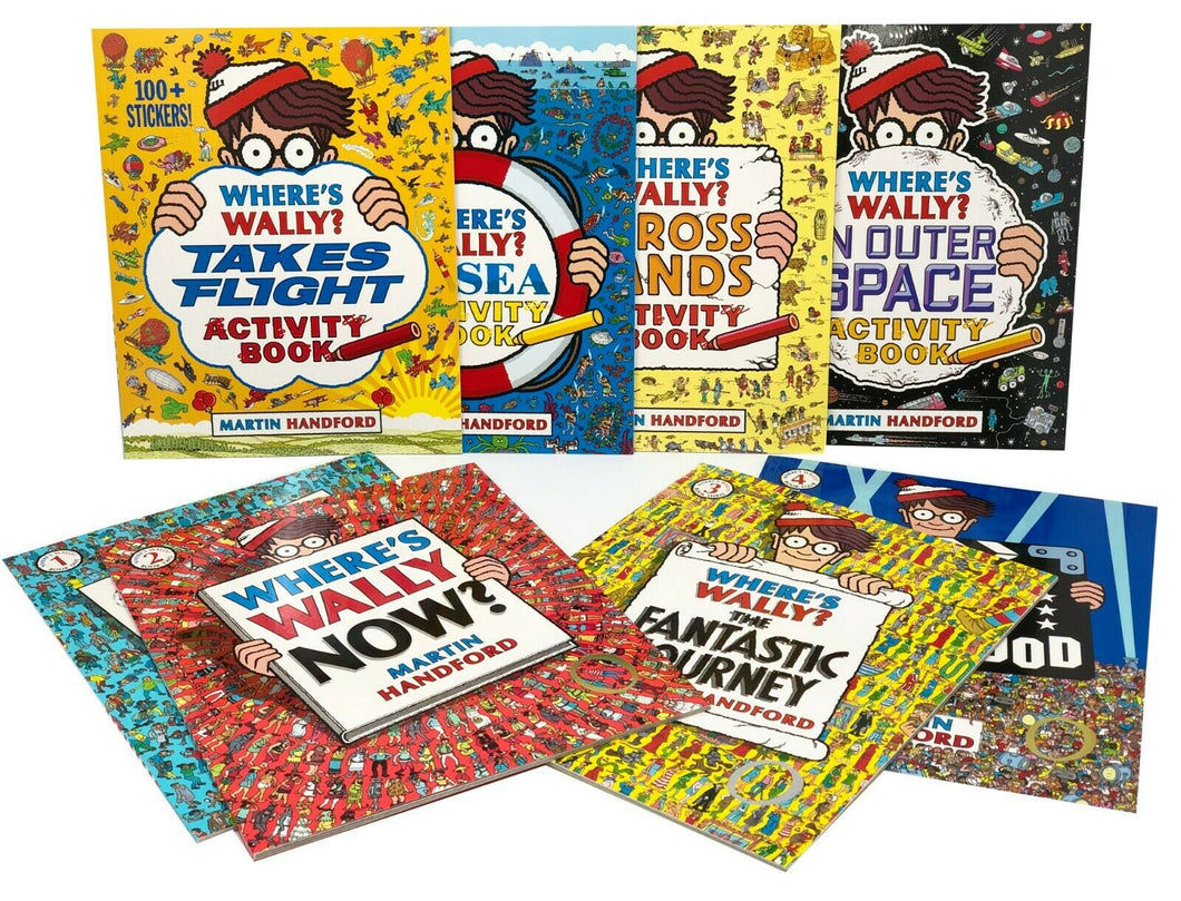 Where'S Wally Amazing Adventures & Activities 8 Books