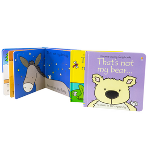 Usborne Touchy Feely Frog Bear Donkey 3 Board Books Collection