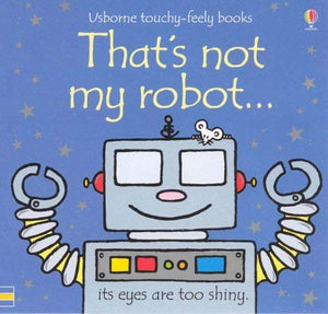 Usborne Touchy Feely Robot Car Plane 3 Board Books Collection