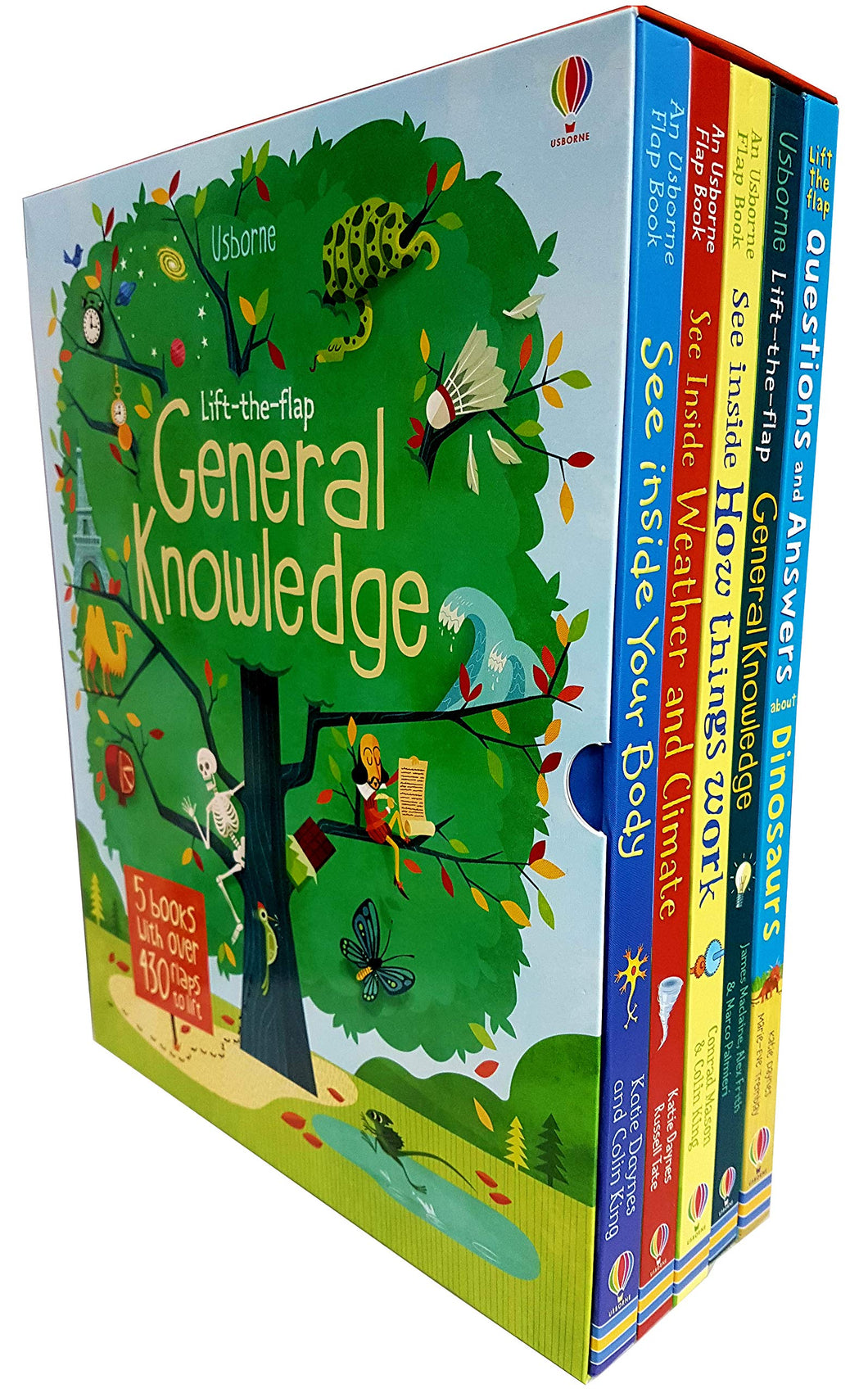 Usborne Lift The Flap General Knowledge 5 Books Collection Set