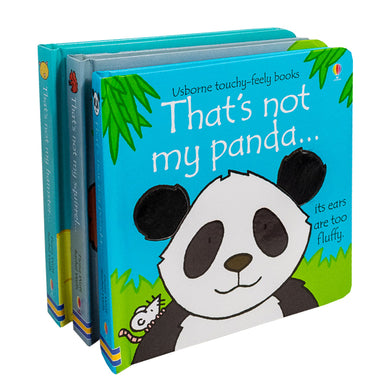 Usborne Touchy Feely 3 Books - Squirel , Hamster , Panda
