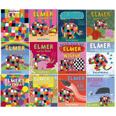 Elmer 12 Classic Picture Books Children Collection Paperback Set Pack By David McKee