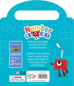 Number Blocks Wipe Clean Fun Children Book Hardback By Sweet Cherry Publisher