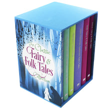 Load image into Gallery viewer, Classic Fairy & Folk Tales 6 Books Young Adult Collection Hardback Box Set