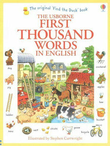 Usborne First Thousand Word In English Children Book Paperback By Heather Amery