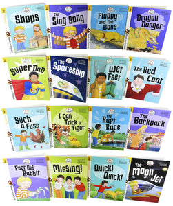 Biff, Chip and Kipper Stage 2 Read with Oxford 16 Books Collection Set - Age 4+