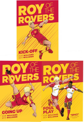 Roy of the Rovers 3 Books Children Collection Set Hardback By Rob Williams