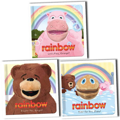 Rainbow Hand Puppet Fun 3 Books Collection Ages 0-5 Board Books By Kellie Jones