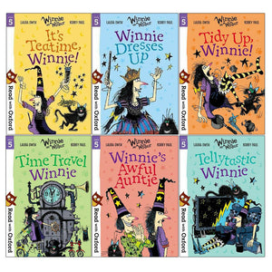 Read With Oxford Winnie & Wilbur Stage 5 Pack 6 Books Children Collection Paperback Set