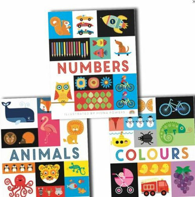 Lift the Flap Early Learning Guide Colours, Animals and Numbers 3 Board Books