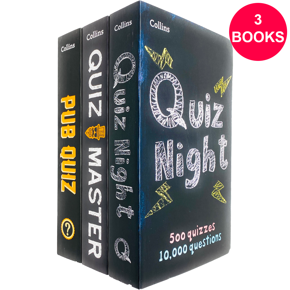 Collins Quiz Puzzles 3 Books Children Collection Paperback By Chris Bradshaw