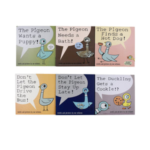 Don't Let the Pigeon Series 6 Books Collection Set - Age 0-5 - Paperback by Mo Willems -