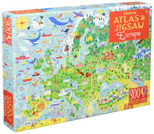 Load image into Gallery viewer, Usborne Atlas and Jigsaw Europe Box - Ages 5+ By Jonathan Melmoth