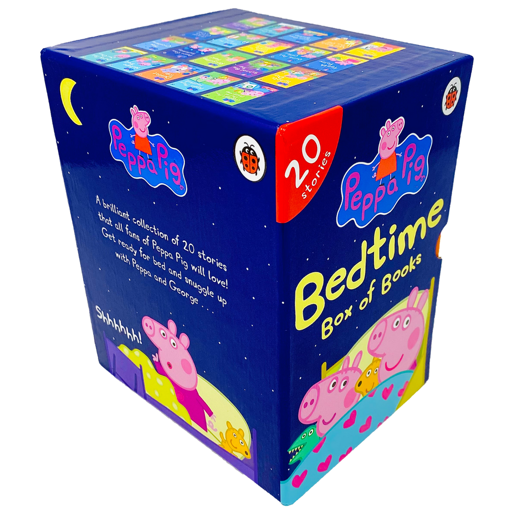 Peppa Pig Bedtime Stories 20 Books Children Pack Hardback Box Set By Ladybird