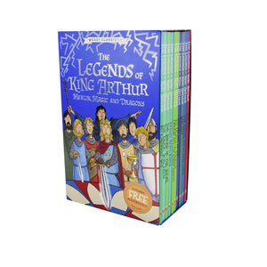 Legends Of King Arthur 10 Books Children Pack Paperback Collection Gift Pack Box Set By Tracey Mayhew