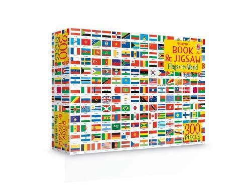 Usborne Flags of the World Book and Jigsaw - Ages 5+ by Sue Meredith