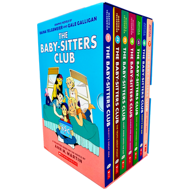 Baby Sitters Club Graphic Novels 7 Books Hardback Gift Set Children Pack By Ann M. Martin
