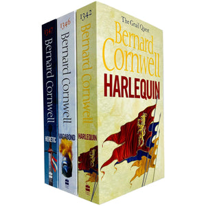 The Grail Quest Trilogy Series 3 Books Set by Bernard Cornwell