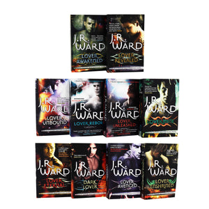 Black Dagger Brotherhood World Series 10 Books Collection Set Paperback by J.R. Ward