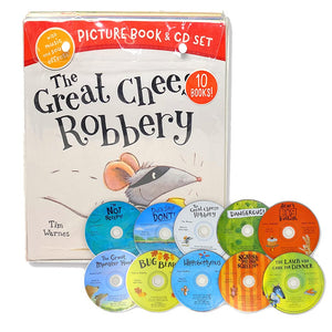 Great Cheese Robbery 10 Picture Books with CD by Little Tiger - Ages 0-5 - Paperback