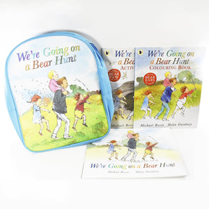 Bear Hunt Adventure Backpack 3 Books Children Collection Paperback Set By Michael Rosen
