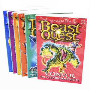 Beast Quest 6 Books Series 7 Children Collection Paperback Box Set By Adam Blade