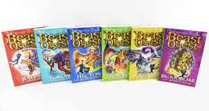 Beast Quest 6 Books Series 8 Children Collection Paperback Box Set By Adam Blade