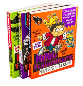 Andy Riley's King Flashypants 3 Book set