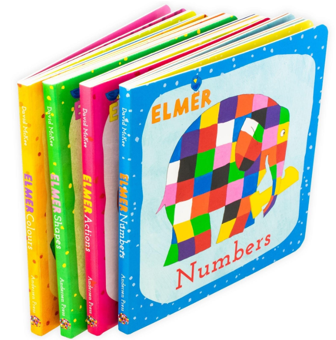 Learn with Elmer 4 Books set