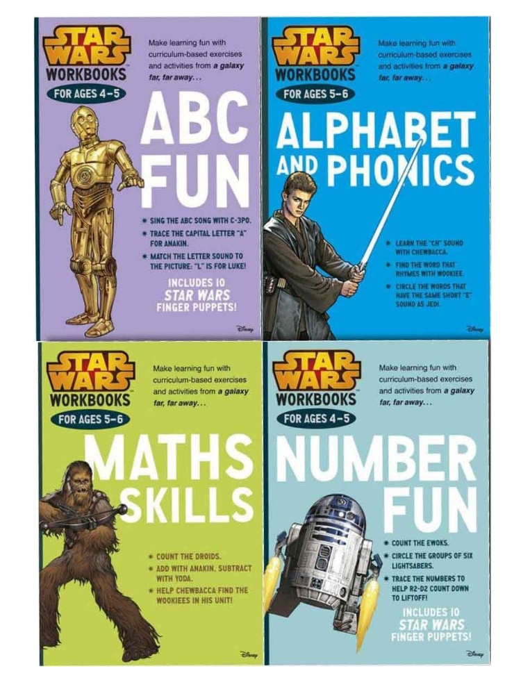 Star Wars 4 Work Books Set