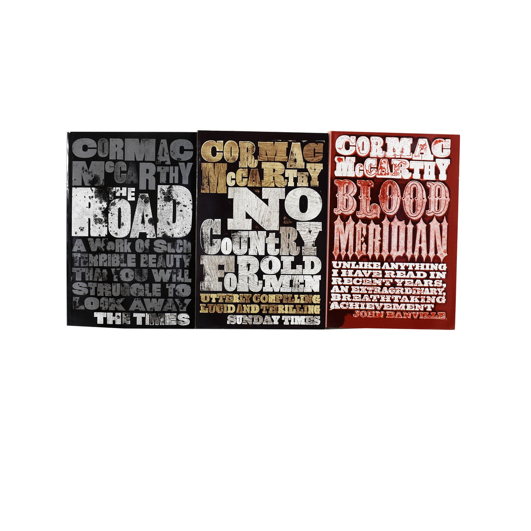 Cormac McCarthy 3 Books Collection Set (The Road, Blood Meridian & No Country for Old Men) - Fiction - Paperback