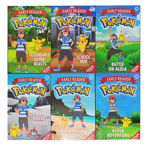 Official Pokemon Story Books For Early Reader 6 Books Children Collection Box Set