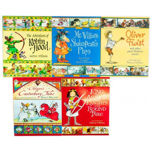 Comic Strip Classics Of The Good Old Days 5 Books Children Set By-Marcia William