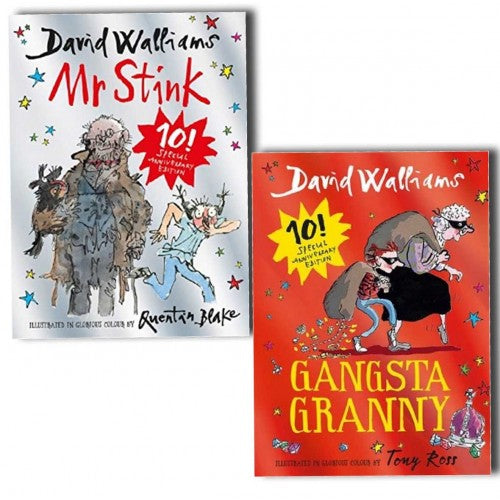 Mr Stink and Gangsta Granny Limited Edition David Walliams 2 Books Collection