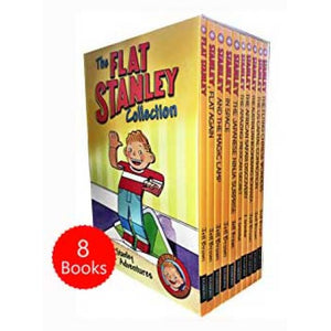 Flat Stanley Adventure Series 8 Books Collection