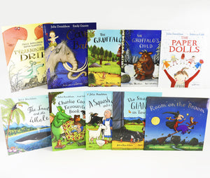 Julia Donaldson Children Story Collection 10 Books In A Blue Bag Paperback Set