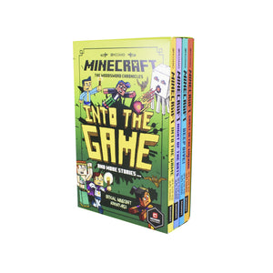 Mojang Minecraft Woodsword 4 Books Children Collection Paperback Set By Nick Eliopulos