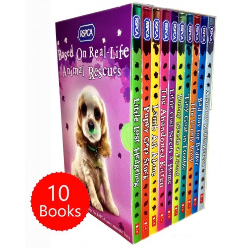 RSPCA Animal Rescue Pets 10 Childrens Books Box Set