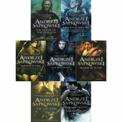 Andrzej Sapkowski The Witcher Series 7 Books Collection