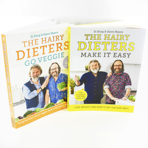 Hairy Dieters Go Veggie & Make It Easy 2 Food Books Set By Si King & Dave Myers
