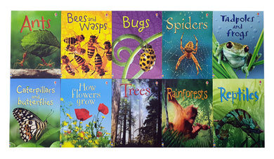 Usborne Beginners Nature 10 Books Children Collection Paperback Gift Pack Set