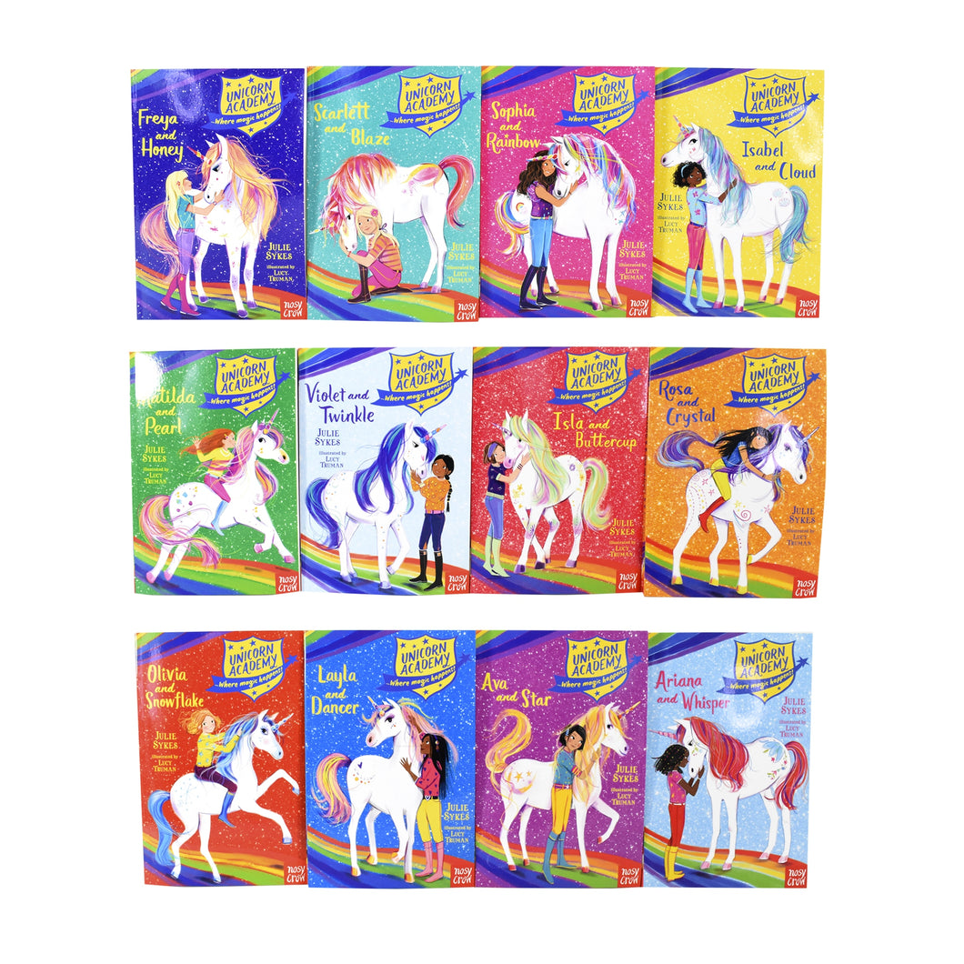 Unicorn Academy Where Magic Happens 12 Books Children Collection Paperback Set By Julie Sykes